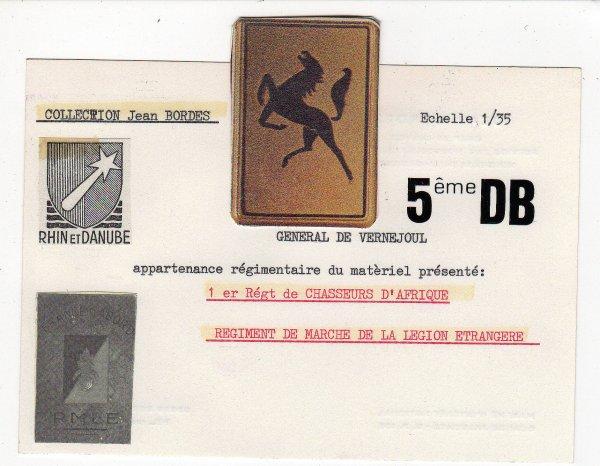 5éme Division blindée - Campagne de France  1944-1945-   1/35 éme-