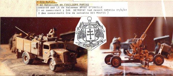 CAMPAGNE DE LYBIE - 1 er Batallion de FUSILLIERS MARINS  1ére BFL