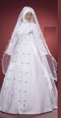 est voici la robe de mariage que mon copain a choisi pour le mariage religieux musulman en turquie mais a la place du voile blanc se sera un voile rouge et - Ruban Rouge Mariage Turc