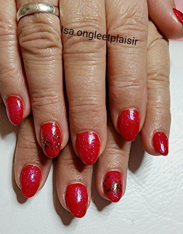 rouge paillettes