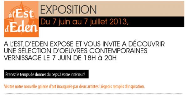 EXPOSITION RGALLERY BY RENO A L'EST D'EDEN (LIEGE)