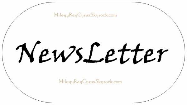 *Newletter (nouveau article en bas)