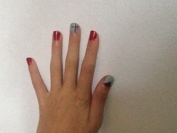 Nail art simple et facile # backToSchool