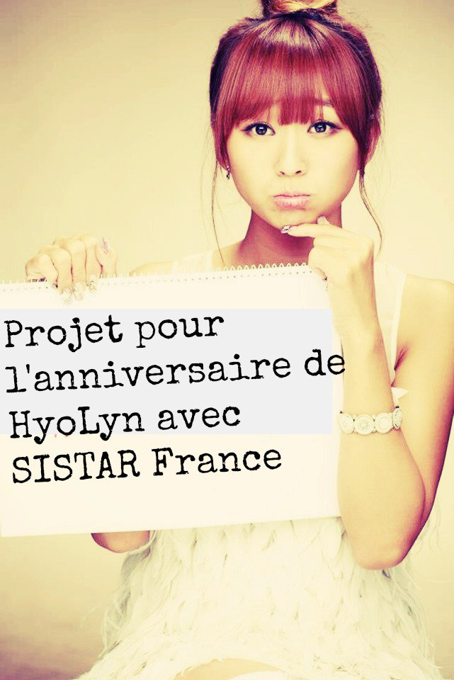 Projet pour HyoLyn.