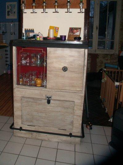 rénovation et création de meubles: le bar