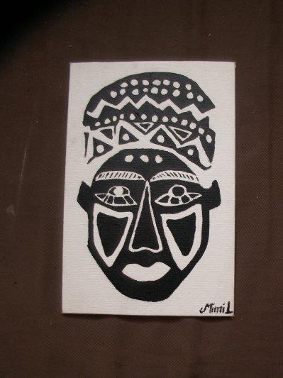 L'afrique débarque dans nos maisons: masque peinture