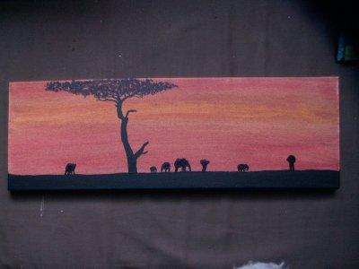 L'afrique débarque dans nos maisons: couché de soleil