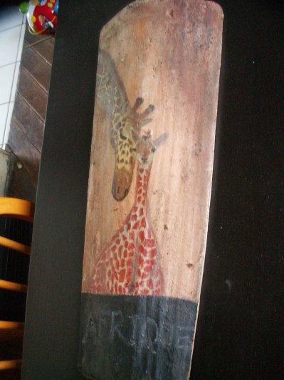 L'afrique débarque dans nos maisons: tendre girafe