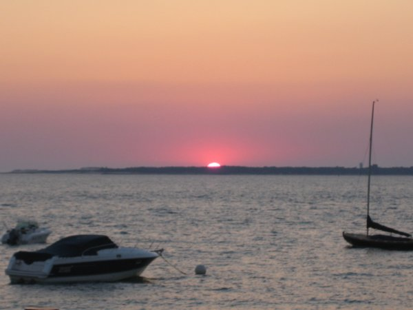 coucher de soleil sur le bassin d'Arcachon!!