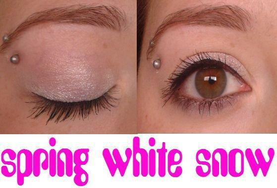 Tuto : spring white snow