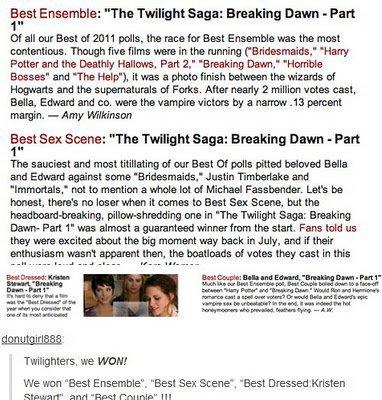 Nominations & récompenses pour la saga,Rob et les autres...
