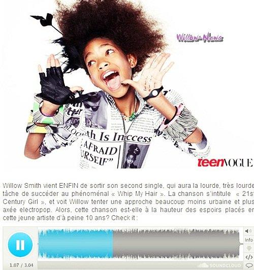 -  Voici Enfin la chanson 21st Century Girl !   -
