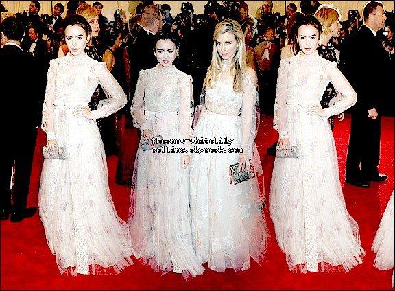 Le 7 mai, Lily était plus resplendissante que jamais au 2012 Met Ball - Costume Institute Gala Benefit