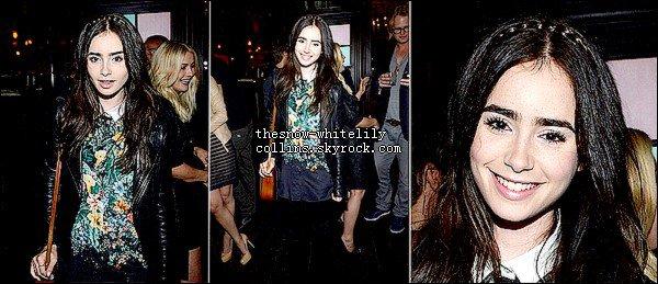 Le 31 mai, Lily était au Glamour Celebrates July Cover Star Julianne Hough
