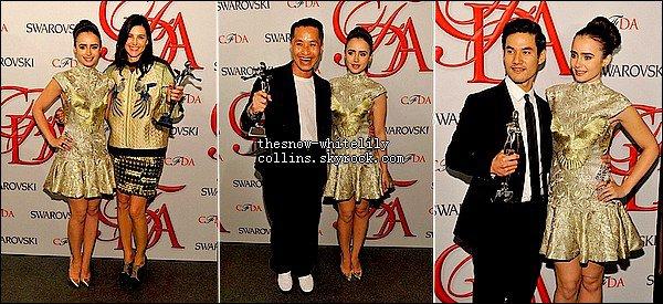 Le 4 juin, Lily était présente au Fashion Show