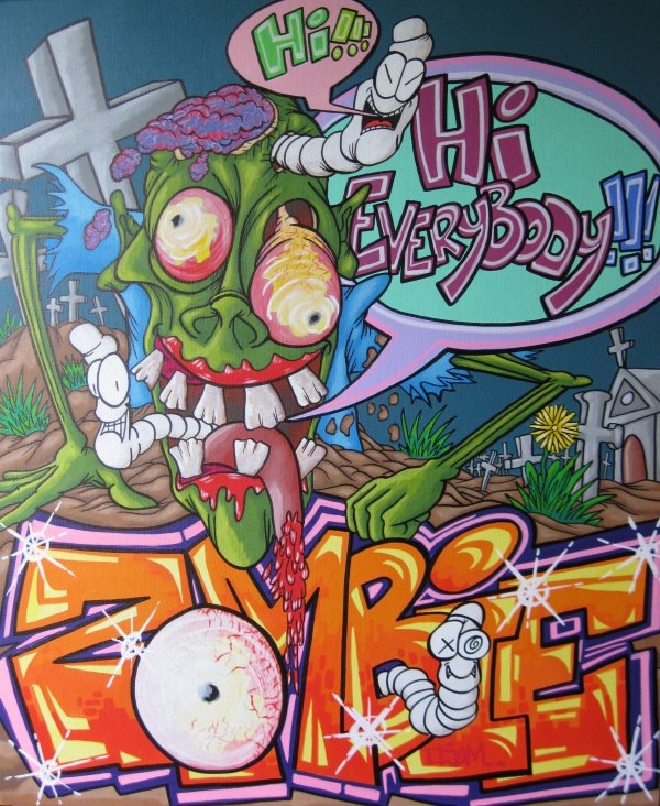 Série Zombie     HI EVERYBODY !    73X60
