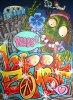 Hippie Zombie 81X60 acrylik sur toile de lin
