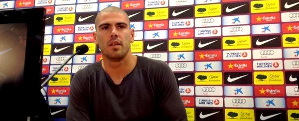 """Víctor Valdés: """"L'objectif de ce club est lourd"""""""