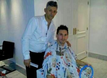 Leo Messi rejoint l'Albiceleste primeur nouveau look capillaire