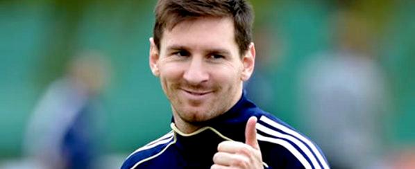 """Messi entraîné normalement avec l'Argentine et en fonction de votre environnement """"est parfait"""""""