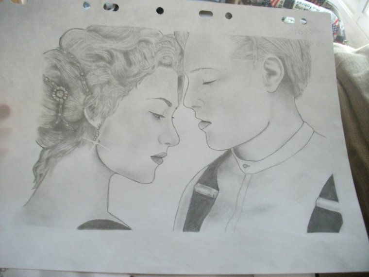 Dessin N'6 : Titanic, Jack & Rose