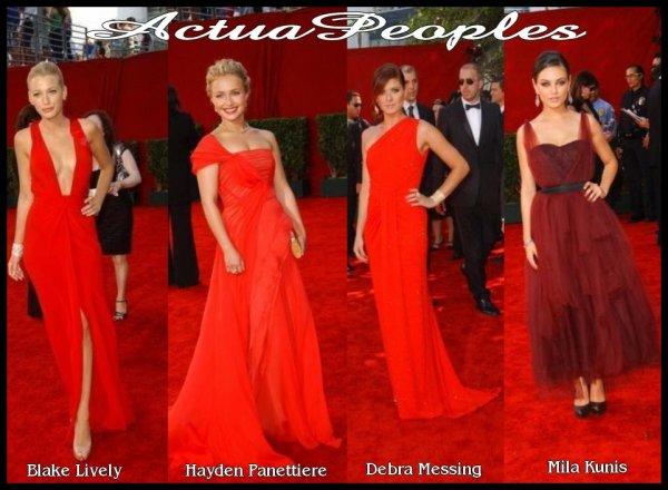 Les stars en rouge sur le tapis rouge[/align=center] . Il n'y a rien de plus glamour que les robes rouges avec ou sans décoltés ! C'est ce qu'elles nous prouvent . Votez votre prèférés  ^^___________________________________________________________________________________________ ;;;;; ;;;;;  ;;;;;  ;;;;; ;;;;;  //// [Ajoutes-moi à tes favoris]  //// S'inscrire à ma newsletterN'oubliez pas de confirmer votre inscription grace au lien que l'on vous envoie dans votre boite mail, ou vous ne serez pas prévenus !