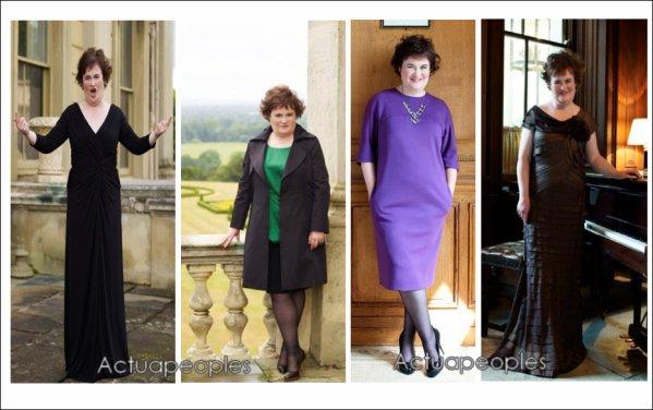 """Susan Boyle relookée ! En effet , la Britannique a subi une transformation totale. Le résultat est impressionnant .La finaliste de """"Britain's Got Talent"""" a été métamorphosée pour son entretien avec le magazine """"Harper's Bazaar"""". Alors , vous aimez ?!  ;) moi perso j'aime bien  Quelle tenue préférez-vous ?!/////// ///// ///// ///// //////// [Ajoutes-moi à tes préférés] S'inscrire à ma newsletter N'oubliez pas de confirmer votre inscription grace au lien que l'on vous envoie dans votre boite mail, ou vous ne serez pas prévenus !"""