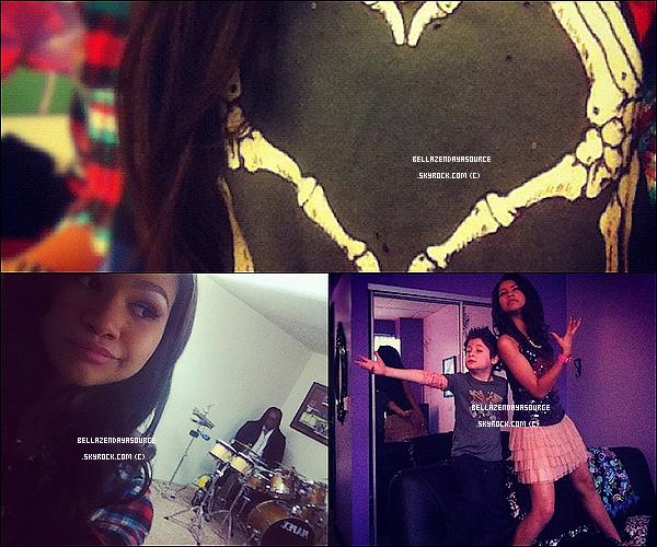 Récentes photos de Zendaya et Bella sur leurs twitter. T'aimes?
