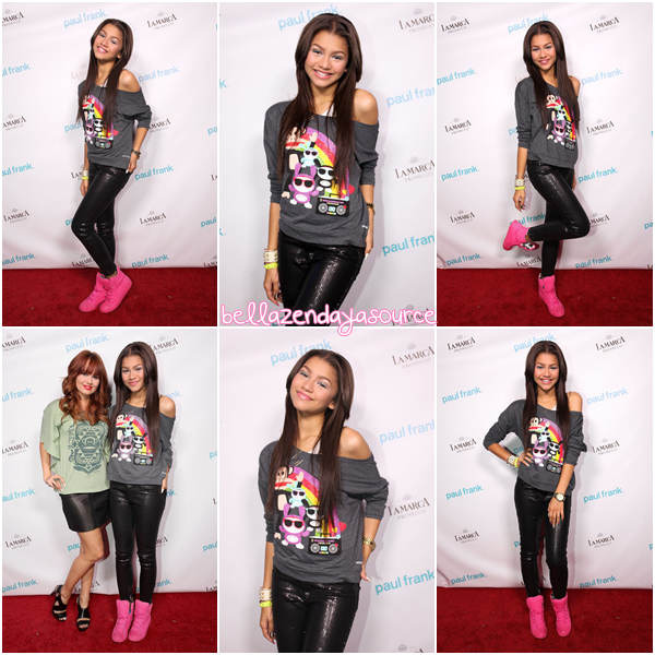 Zendaya et Debby au Paul Frank's Fashion Night Out! Zendaya est magnifique, j'adore sa tenue !