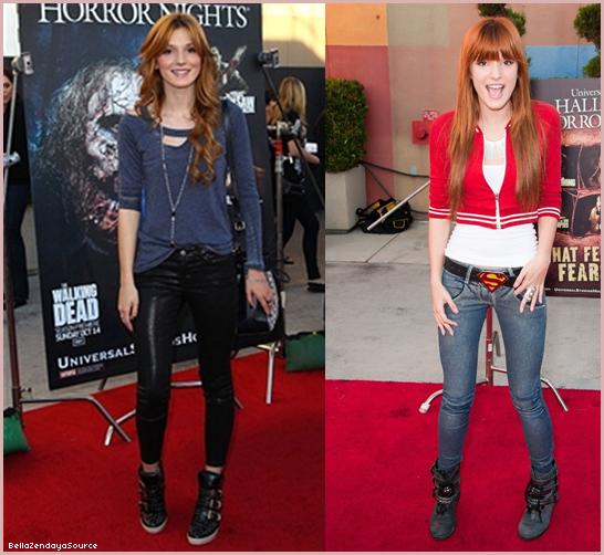 Bella et son amie Kaily était a la soirée nuit du film Halloween le 21 septembre 2012.