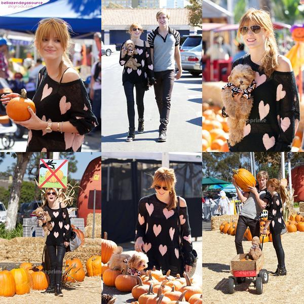 Bella Tristan allant acheter des citrouilles a los angeles ce 16 octobre 2012.