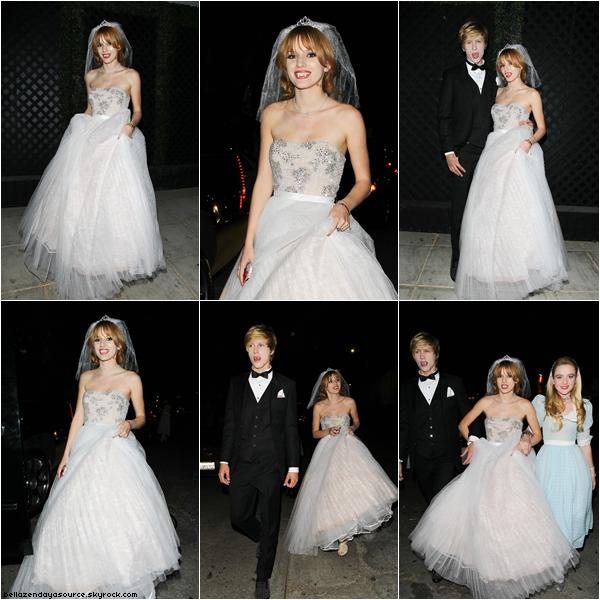 Kathryn, Bella et Tristan à la fete d'halloween de Just Jared le 27 octobre 2012.