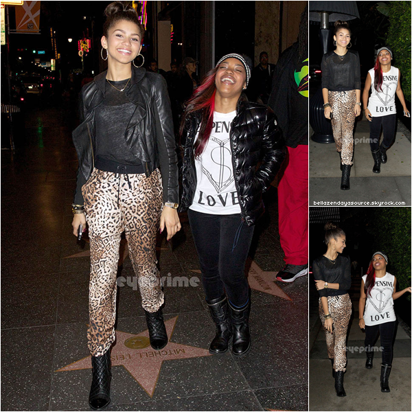 Zendaya et sa meilleure amie, ont été photographiée à Hollywood pou le concert des Jonas Brothers.