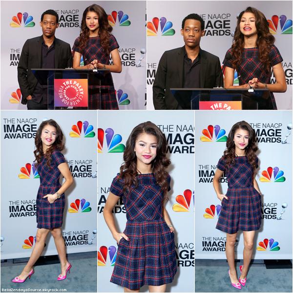 Zendaya a la cérémonie des 44th NAACP Image Awards Nomination Announcements, ce 11 décembre 2012.