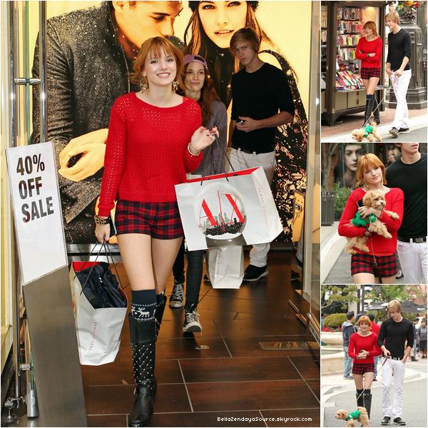 Bella, Tristan, Kingston, Dani et son copain se promenant et faisant du shopping le 16 décembre 2012.