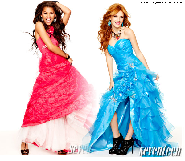 Découvrez les nouvelles photos du photoshoot de Bella et Zendaya pour le shoot de Seventeen. Avis ? :=)