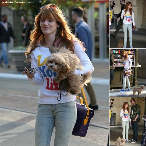 Bella et Tristan se promenant a Los Angeles ce 20 décembre 2012.