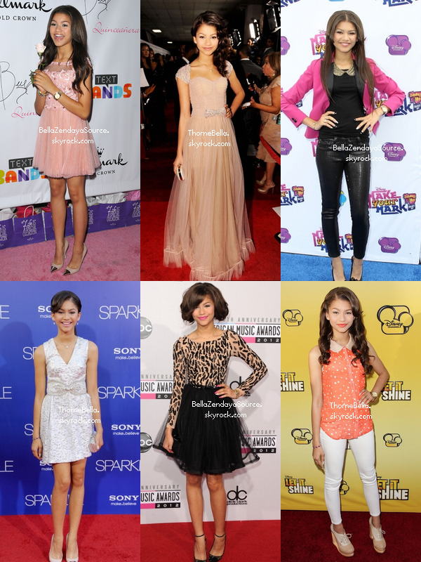 Qui de Bella ou Zendaya a fait les plus beaux tops durant l'année 2012 ? Collaboration avec ThorneBella