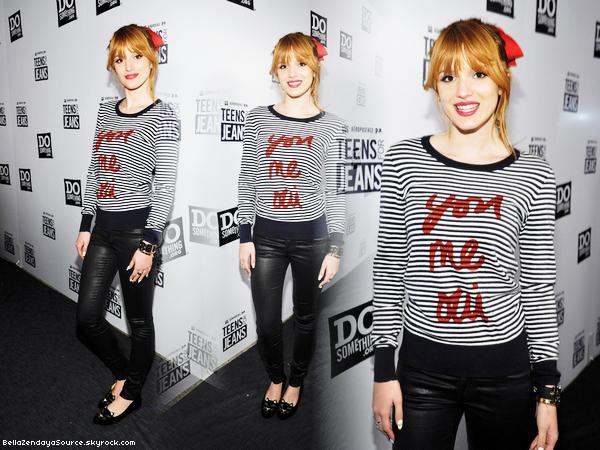 Bella au Teens for Jeans au Do Something le 8 janvier 2013.