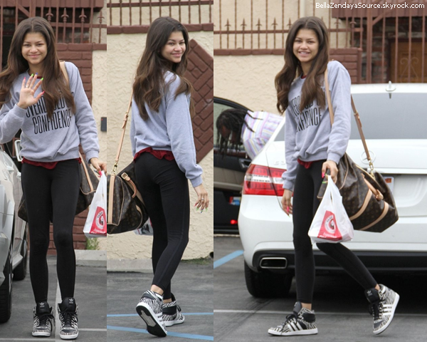 Zendaya allant aux répétitions de Dance With The Stars.