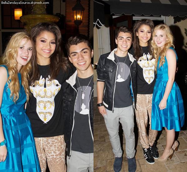Zendaya, Caroline et Adam allant au restaurant Maggiano au centre The Grove de Los Angeles le 20 mai 2013.