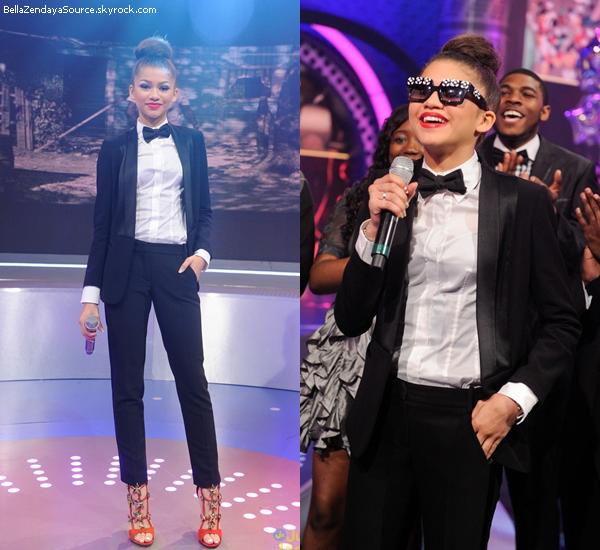 Zendaya sur le plateau de l'émission 106&Park à New York le 22 mai 2013.