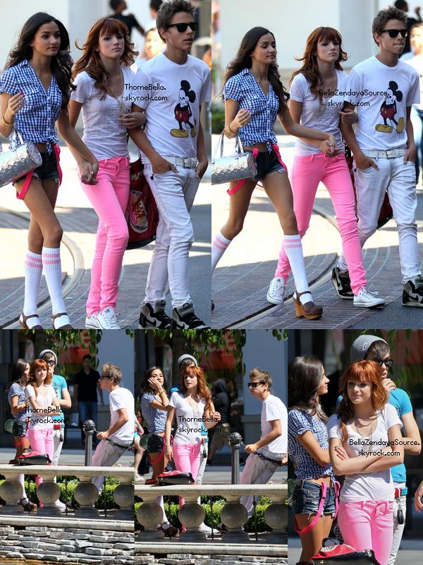 Bella, Garrett, Remi et Pia Mia faisant du shopping au Grove le 28 juin 2011. Collaboration avec ThorneBella