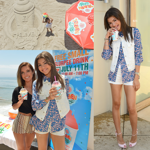 Zendaya au ''7 Eleven's 86th Birthday Party'' à Malibu le 7 juillet 2013.