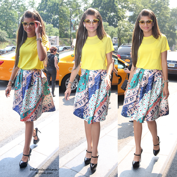 Zendaya sortant de son hotel à New York le 19 juillet 2013.