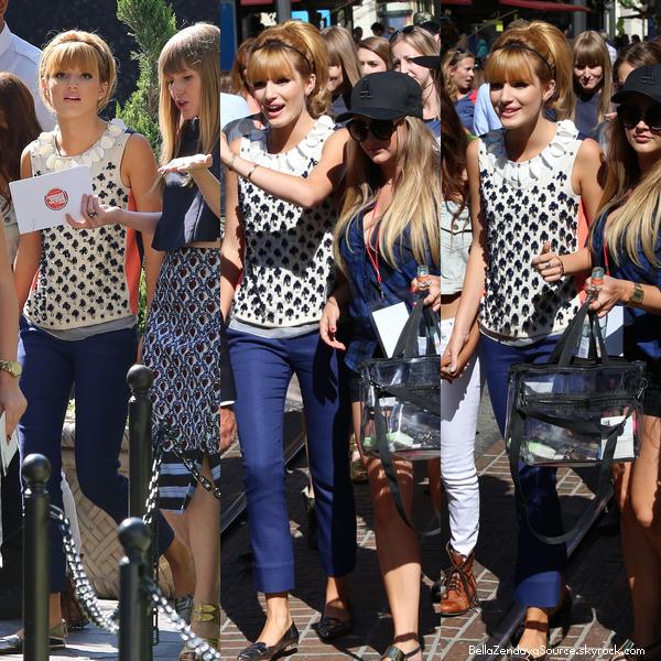 Bella au Teen Vogue Back to school le 9 août 2013.