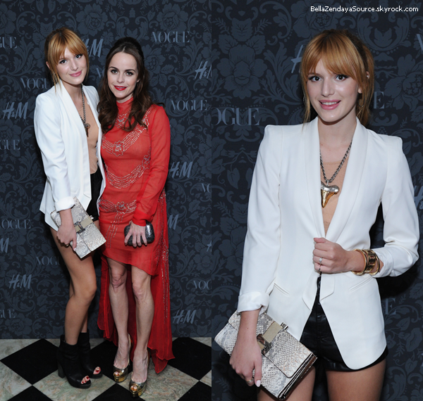 Bella et Dani au défilé de Nicole Miller à New York le 6 septembre 2013 à NYC.