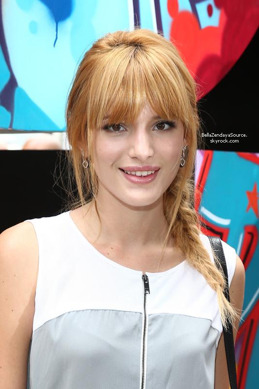 Bella au défilé DKNY Women's - Front Row - Mercedes-Benz Fashion Week Spring 2014 le 7 septembre 2013.