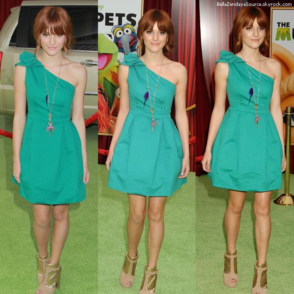 Bella et Pia Mia à la première de Muppets le 13 novembre 2011.