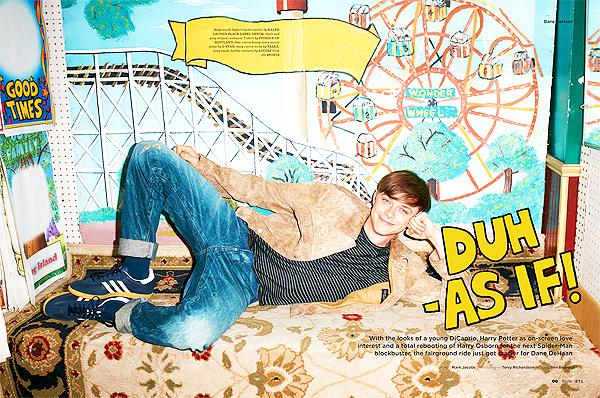 - De nouveaux scans de Dane pour le magazine GQ Style UK's FW. Les photos ont été prises par Terry Richardson. -
